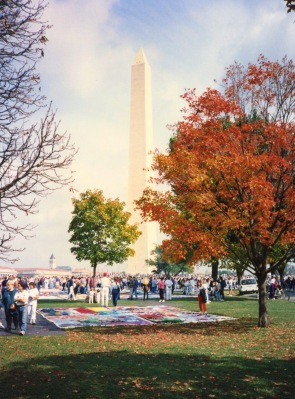 The AIDS Quilt on the Washington Mall, October 1992.